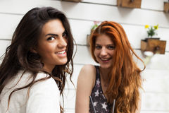 Smiling young girls Stock Image