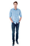 Smiling young guy over white Royalty Free Stock Photography