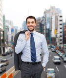Smiling young and handsome businessman Royalty Free Stock Photo