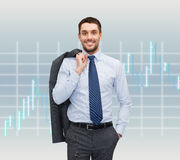 Smiling young and handsome businessman Stock Image