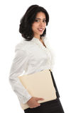 Smiling Young Hispanic Businesswoman Standing Royalty Free Stock Image