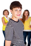 Smiling young kid in focus Stock Photos