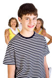Smiling young kid in focus Royalty Free Stock Photo