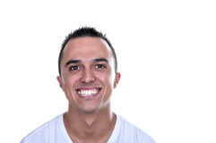 Smiling young Latino. On white background Royalty Free Stock Photography