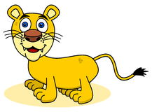 Smiling young lion Royalty Free Stock Photos