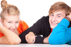 Smiling young loving couple Royalty Free Stock Photo