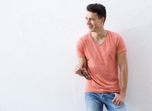 Smiling young male fashion model Royalty Free Stock Image