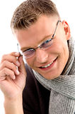 Smiling young male wearing eyewear Stock Images