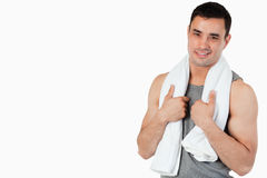 Smiling young male after workout Stock Photos