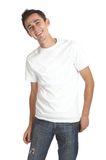 Smiling Young Man. Over white background Royalty Free Stock Image