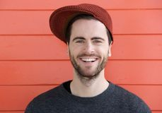 Smiling young man with beard Royalty Free Stock Photo