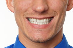 Smiling young man. Smiling of young man close up Royalty Free Stock Photos