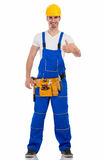 Smiling young man in construction uniform Royalty Free Stock Photography