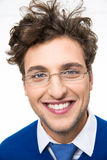 Smiling young man in glasses Royalty Free Stock Image