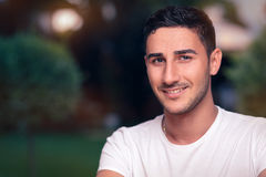 Smiling Young Man Headshot Stock Photos