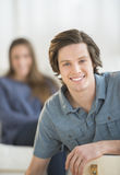 Smiling Young Man At Home Royalty Free Stock Photography
