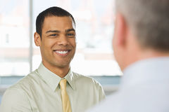 Smiling Young Man In An Interview Stock Photos