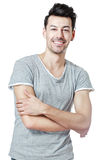 Smiling young man isolated Stock Image