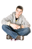 Smiling young man. Isolated on white Stock Photography