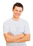 Smiling young man over white background Stock Image
