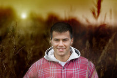 Smiling young man Stock Images