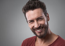 Smiling young man portrait Stock Photography