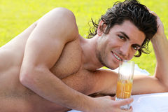 Smiling young man relax Stock Photography