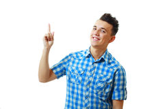 Smiling young man standing Royalty Free Stock Images