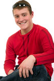 Smiling young man with sunglasses Royalty Free Stock Image
