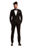Smiling young man wearing tuxedo Royalty Free Stock Image