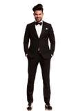 Smiling young man wearing tuxedo Royalty Free Stock Image