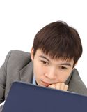 Smiling young man working Royalty Free Stock Images