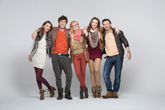 Smiling young people with white bacground Stock Photo