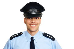 Smiling young policeman Royalty Free Stock Photo