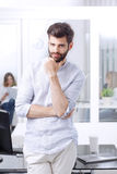 Smiling young professional man Stock Images