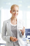 Smiling young professional Stock Photography