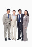 Smiling young salespeople standing together Stock Photography