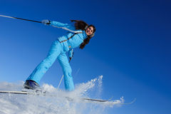 Smiling young skier Royalty Free Stock Images