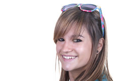 Smiling young student. Isolated on white background Royalty Free Stock Photos