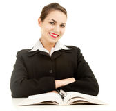Smiling young student girl with book Royalty Free Stock Photos