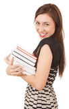 Smiling young student girl with books Royalty Free Stock Photos