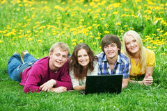 Smiling young student group of people Royalty Free Stock Photography
