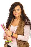 Smiling young student woman Royalty Free Stock Photography