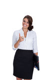 Smiling young successful business woman isolated Royalty Free Stock Photo