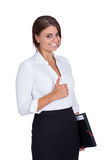 Smiling young successful business woman isolated Stock Photo