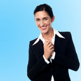 Smiling young successful businesswoman Royalty Free Stock Photo