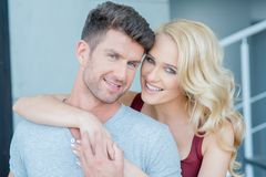 Smiling Young White Romantic Couple Royalty Free Stock Images