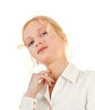 Smiling young woman. Portrait of smiling woman in business clothing Royalty Free Stock Photos