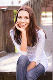 Smiling young woman Royalty Free Stock Photography