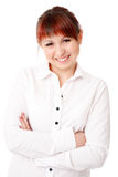 Smiling young woman with arms crossed Royalty Free Stock Photo